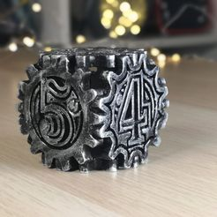 a9551d5fc113471e8974a4836d250493_display_large.jpg Download free STL file Steampunk Dice / Dé style Steampunk • 3D printing object, Heliox