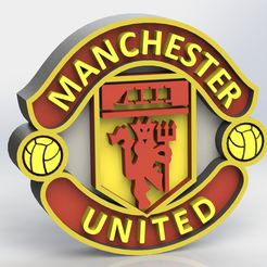 manchester_united_ref1.JPG Download STL file Manchester United Logo • 3D printer object, taiced3d