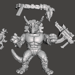 01_TRICE.png Download STL file TRICERATON VINTAGE TMNT ( TEENAGE MUTANT NINJA TURTLES) COMPLETE • Object to 3D print, MisJuguetes