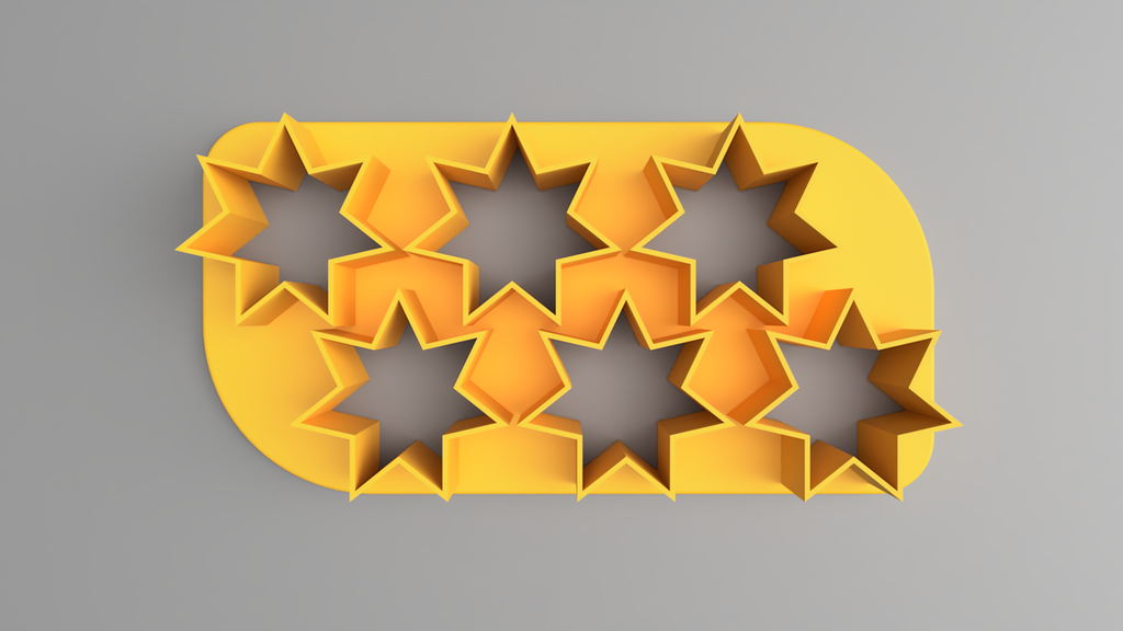 topSmall.png Download free STL file Cookie Cutter Stil lLittle Stars (7 dientes) (2x3) • 3D printable object, Wilko
