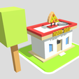 PizzaShop(Render)2.png Download free file Pizza Shop 3D Low Poly • 3D printing object, theworldentertainment