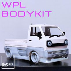a1.jpg Télécharger fichier STL WPL D12 RC Kit complet de carrosserie Widebody par BLACKBOX • Design imprimable en 3D, BlackBox