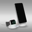 Untitled 745.png Télécharger fichier STL Support chargeur MAGSAFE pour iPhone et Apple Watch - 2 OPTIONS • Plan pour impression 3D, Trikonics