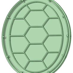 Caparazon_e.png Download STL file Turtle + Ninja shell cookie cutter • Object to 3D print, osval74
