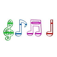 Musical Notes Cutter v1.png Download STL file Musical Notes Cookie And Fondant Cutter • 3D printer model, dkn2610