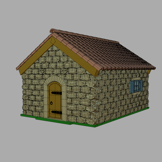 Maison1.png Download STL file Stone house • Design to 3D print, phipo333