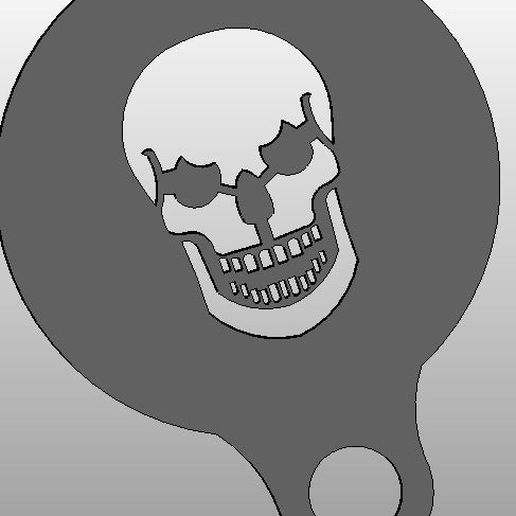 skull_display_large.jpg Download free STL file coffee Stencil - skull • Template to 3D print, arifsethi
