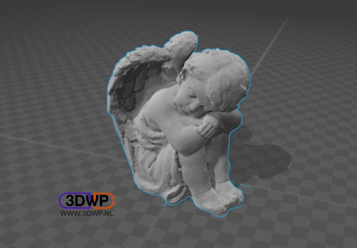SleepingAngel1.JPG Download STL file Sleeping Angel Sculpture • 3D printer model, 3DWP