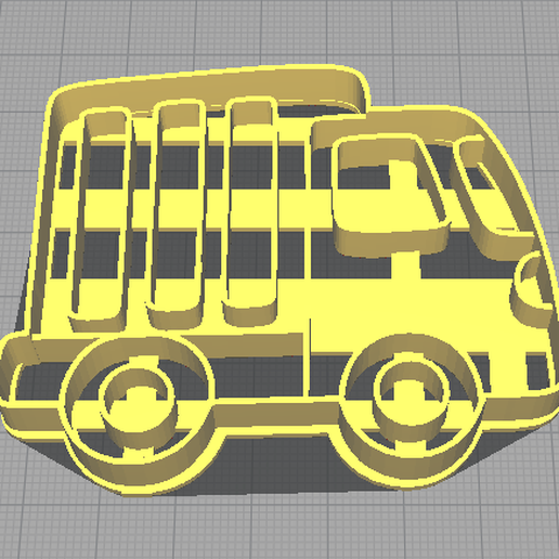 camion cookie cutter.png Download free STL file Truck Cookie Cutter • 3D printing design, NicoDLC