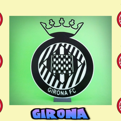Diseño_sin_título21.png Download free STL file Escudo  GIRONA FC • Object to 3D print, 3dlito