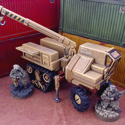 halftrackScalePreview.png Download file Halftrack Recovery - 28mm • 3D printing template, tabletop-terrain