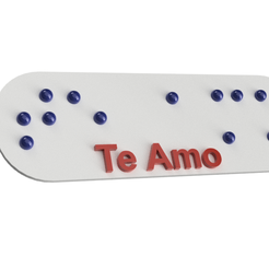 llavero2.png Download free STL file I Love You Keychain in Braille • 3D print template, Jonathan_1990