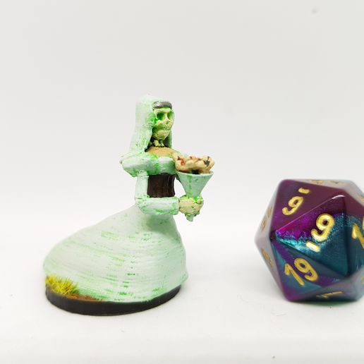 2019-01-04_21.19.53.jpg Download free STL file Undead Ghostly Bride/Lich for 28mm Tabletop Gaming • 3D printer model, AJade