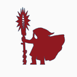 Heavy Cloak Big Staff.png Download STL file Heavy Cloak Mage With Big Staff • 3D printer template, Ellie_Valkyrie