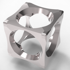 cube2-ring1.PNG Download OBJ file 3 in 1 Clock Ring • Model to 3D print, plasmeo3d