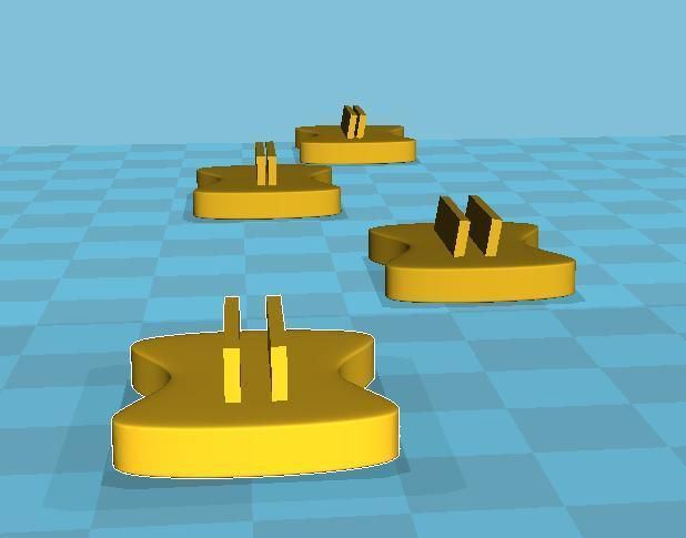 Supports.jpeg Download free STL file Card and token holder • 3D printing template, Jaenne