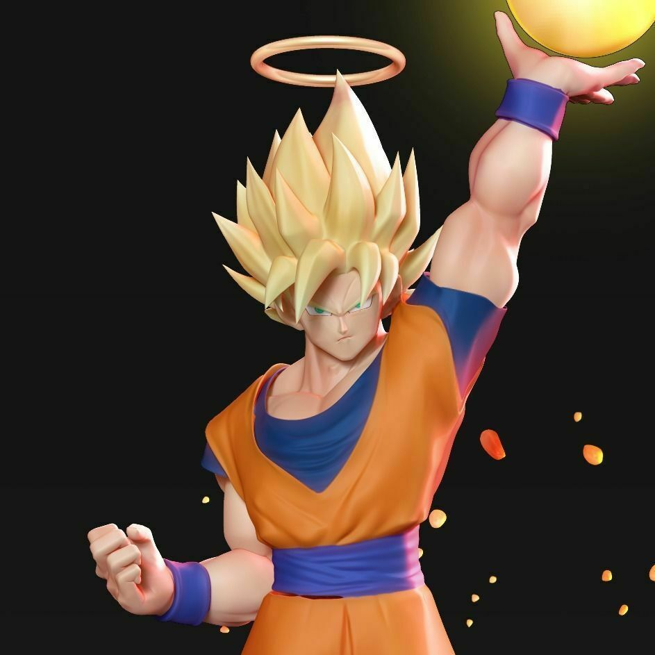 goku-super-saiyan-3d-model-obj-stl-ztl.jpg Download STL file Goku Super Saiyan • 3D print template, nlsinh