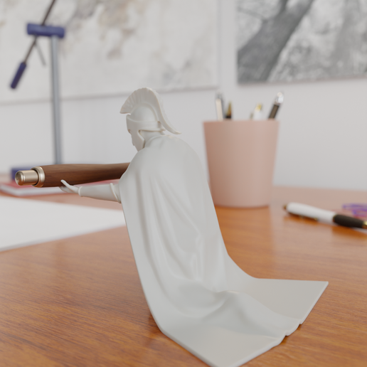 2.png Download STL file Spartan Soldier Pen Holder • Model to 3D print, Alessandro_Palma