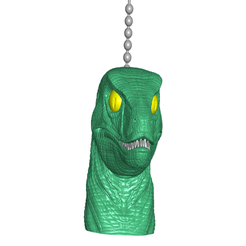 VPCfront.png Download free STL file Velociraptor Pull Ball Chain Knob | Handle | Fob | Finials • Object to 3D print, ToaKamate
