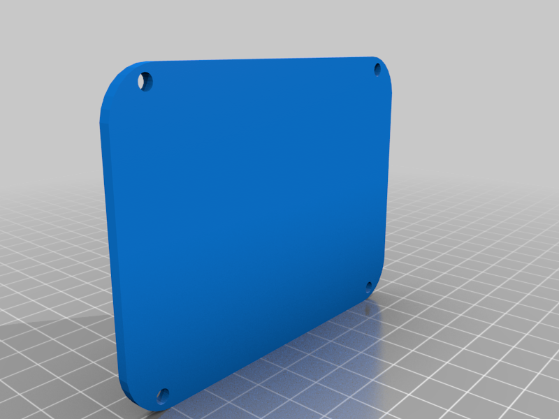 """backplate.png Download free STL file Fallout Wall Style Termal Case to hold Raspberry PI & 3.5"""" Screen Vented • 3D printable model, BigMrTong"""