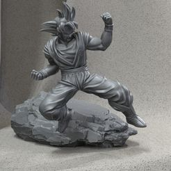 gokurender3.jpg Download free STL file Goku • 3D printer design, JulioCesar_3DD