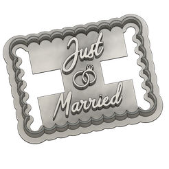 juste married v1.png Download STL file Punch just married • 3D printer object, dodey_57