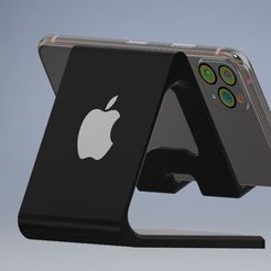apple mobile stand.JPG Télécharger fichier STL Mobile Holder Version Apple • Objet imprimable en 3D, emmanuelgnanasekar