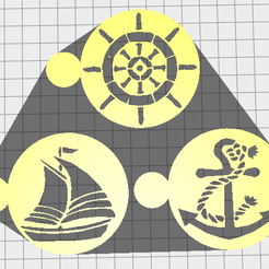 nauticalpng.png Download STL file Nautical stencils for air brush • 3D printable template, phillya