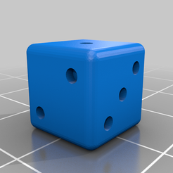 dado_PARCHIS.png Download free STL file PARCHEESI DICE AND POKER • Design to 3D print, chocarrat