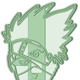 2_e.png Download STL file Kakashi cookie cutter Naruto • Template to 3D print, osval74