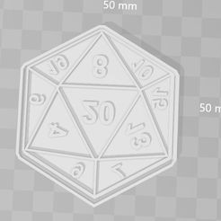d20.JPG Download STL file d20 says cookie cutter role • 3D printable template, PrintCraft