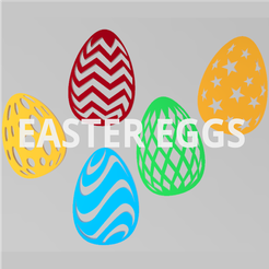 easter-eggs.png Download STL file Flat Easter Eggs for decoration • Object to 3D print, Igbras