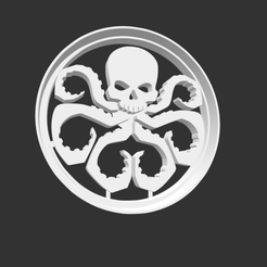 HYDRA.png Download STL file COOKIE CUTTER - HYDRA (LOGO). • Template to 3D print, BAJIO3D