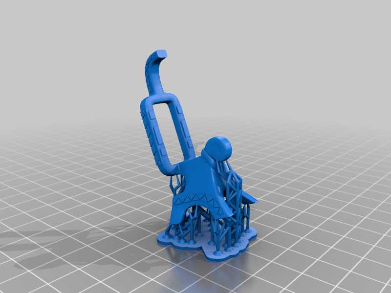 Chair_Supported.png Download free 3MF file One-Armed Dino-Jesus & His Pet Tyrannosaur • 3D printing model, EmanG