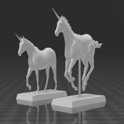 Unicorns_Cover.jpg Download free STL file Unicorns 28mm Miniatures • Template to 3D print, Code2