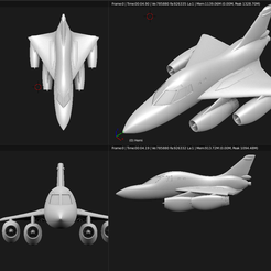 Screenshot from 2020-03-23 10-10-18.png Download STL file Toy plane - Convair B-58 Hustler • Template to 3D print, Bandido