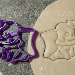 DSC_1795_1.JPG Download STL file Dumbo Cookie Cutter • 3D print model, FatDogCookieCutters