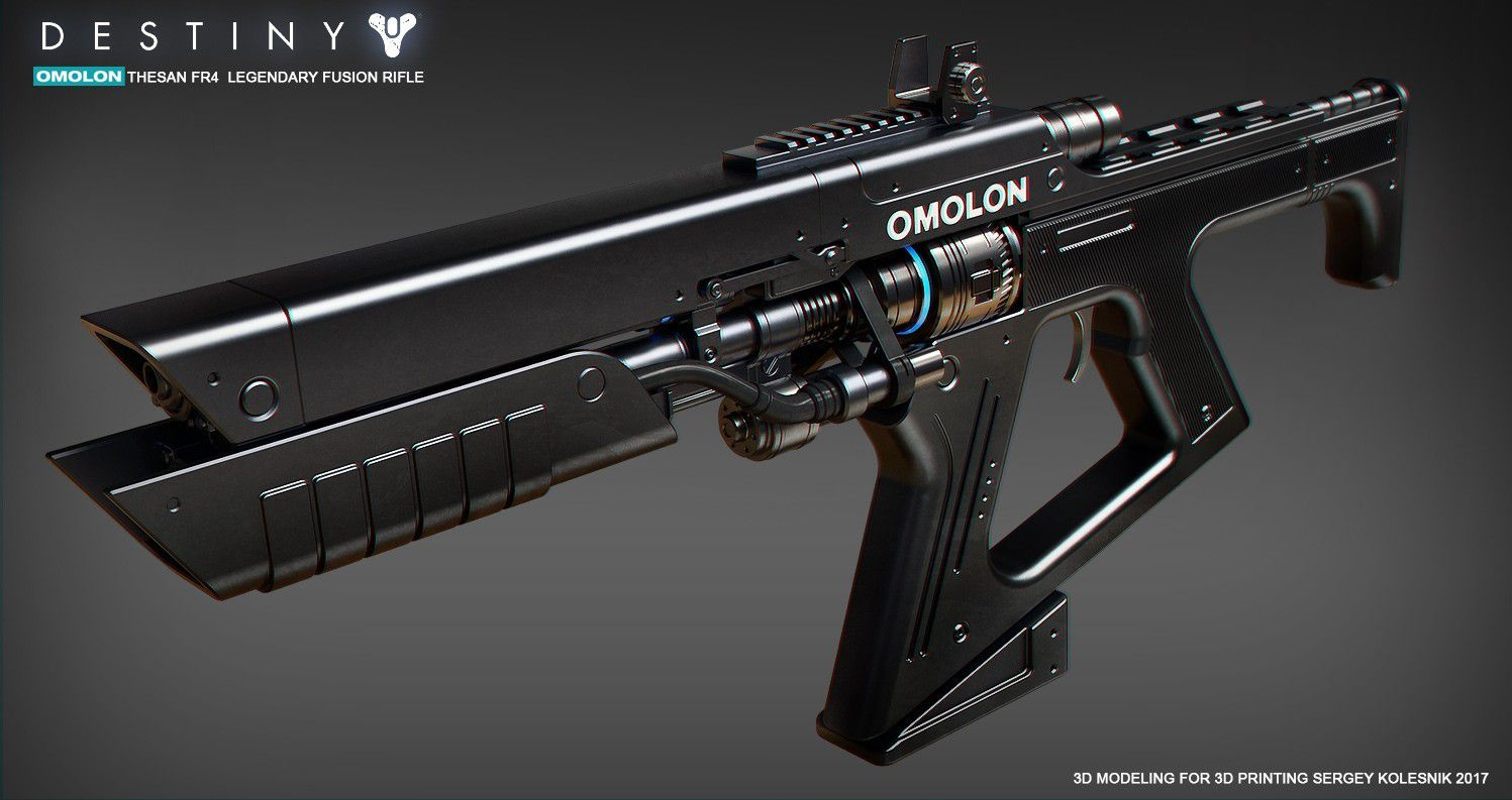 1o.jpg Download STL file Omolon THESAN FR4 Legendary Fusion Rifle • Object to 3D print, 3dpicasso