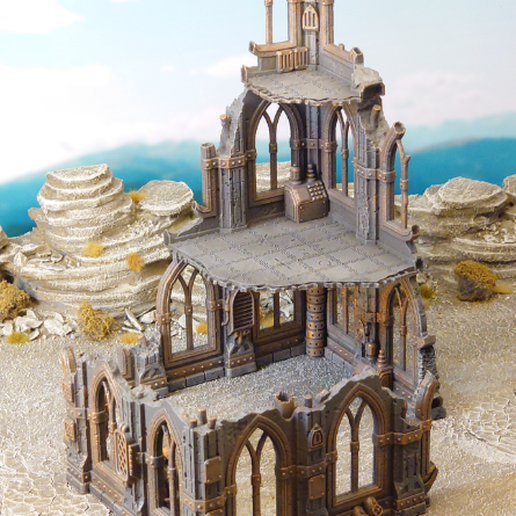 thingiverse-image.png Download free STL file Gothic scifi ruin • 3D print template, Terrain4Print