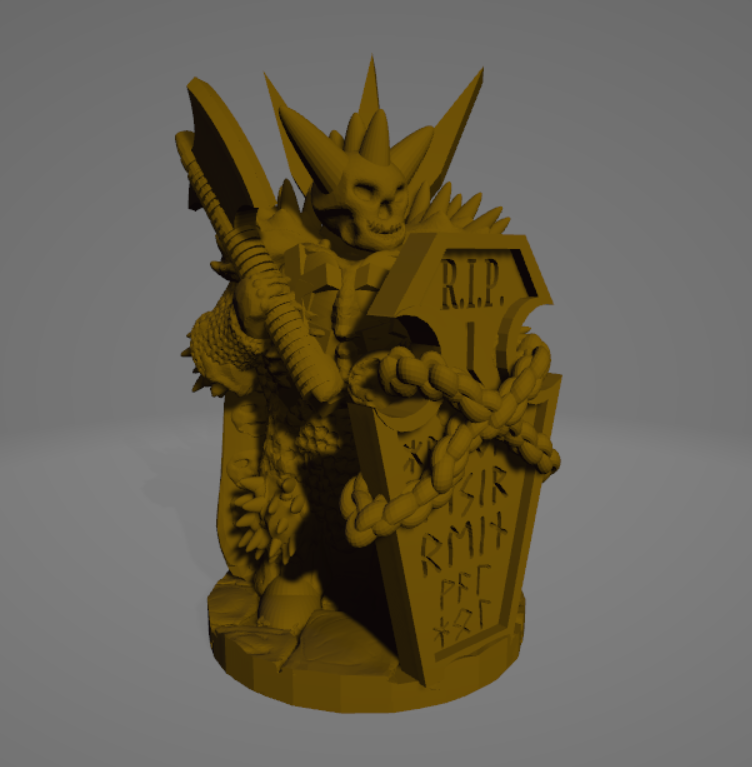 Undead Knight sm Axe.png Download STL file Undead Heavy Raider • 3D printable template, Ellie_Valkyrie