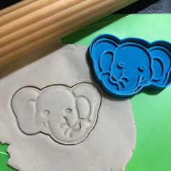 IMG_2593.JPG Download STL file Baby Elephant Face Cookie Cutter. Stamp + Cutter • 3D print model, 12CREATIVO
