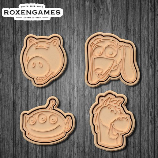 poster 1.jpg Download STL file Toy Story cookie cutter set of 10 • 3D printing template, roxengames