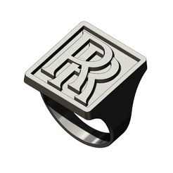 RR-recta-ring-size6to13-00.jpg Download 3MF file RR rolls-royce logo replica large rectangular ring size 6to13 3D print model • Object to 3D print, RachidSW