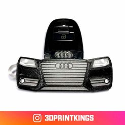 a4.jpg Download free STL file Audi A4 (B8) - Key Chain • 3D printing template, 3dprintkings