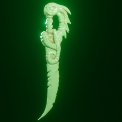 daga4.png Download STL file League of Legends Pike Dagger Fan Art • 3D printing object, ARPestudio