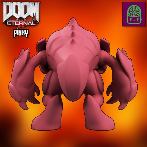 3.jpg Download STL file DOOM ETERNAL PINKY SPECTRE COLLECTIBLE FIGURINE HIGH RES CUSTOM MODEL • Object to 3D print, ThatJoshGuy