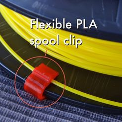 Flexible_PLA_spool_clip_1_display_large.jpg Download free STL file Flexible PLA spool clip (1.75mm) • 3D printable model, Gaenarra