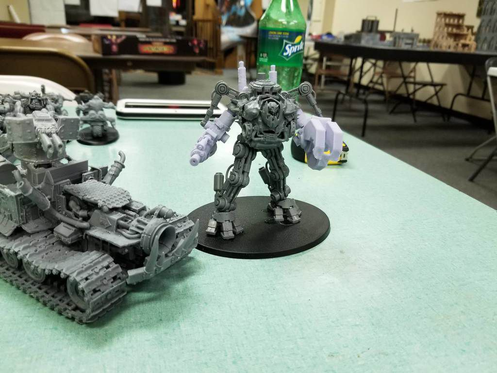 20180602_221946.jpg Download free STL file Ork Warlord or Ghaz using a Dreadknight • Template to 3D print, JtStrait72