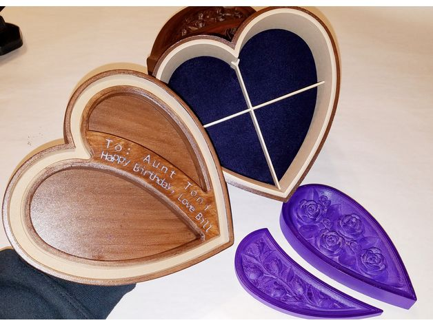 img (8).jpg Download free STL file Jewellery box in the shape of a heart and decorated with roses • 3D printer model, oasisk