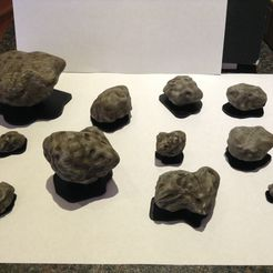 IMG_1162.JPG Download STL file 3D Printable Asteroid Set • 3D printer template, gametree3dprint